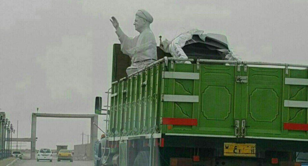 How to wreck a country and have your statue erected! #rafsanjani  #iran<br>http://pic.twitter.com/6AqfPwMStu