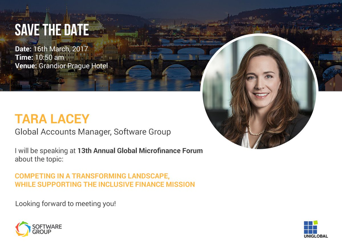 software group on twitter our colleague tara lacey global account manager at software group will present during the 13th annual global microfinance - Global Account Manager