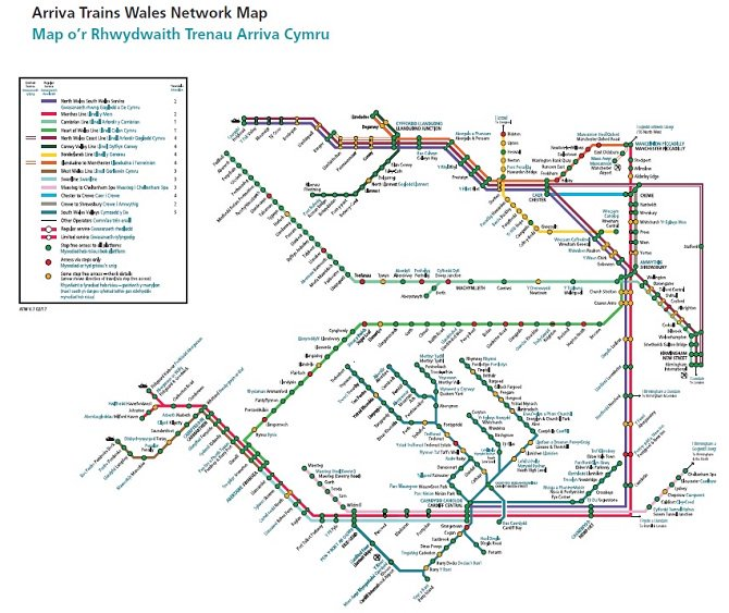 Arriva Trains Wales Map Arriva Trains Wales on Twitter: