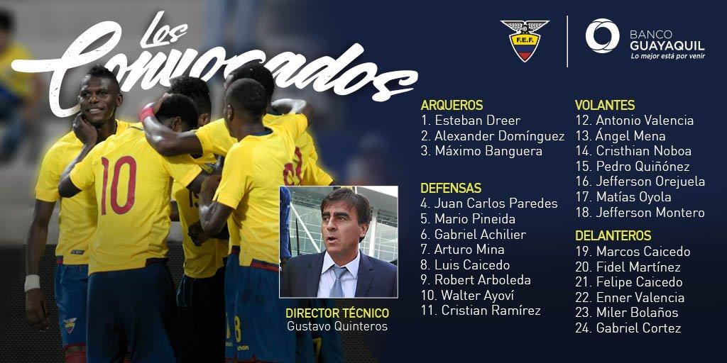 Selección Ecuador cita a 16 'extranjeros' para duelos con Paraguay y Colombia