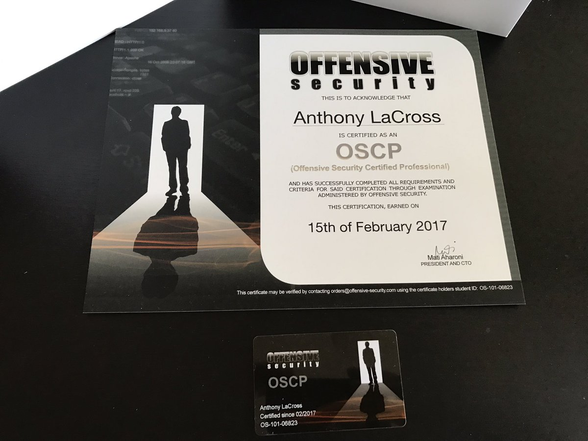Anthony Lacross On Twitter All The Way From Israel Oscp Pwk
