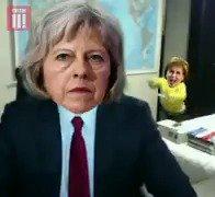 Nicola Sturgeon crashes Theresa May's party.  #indyref2