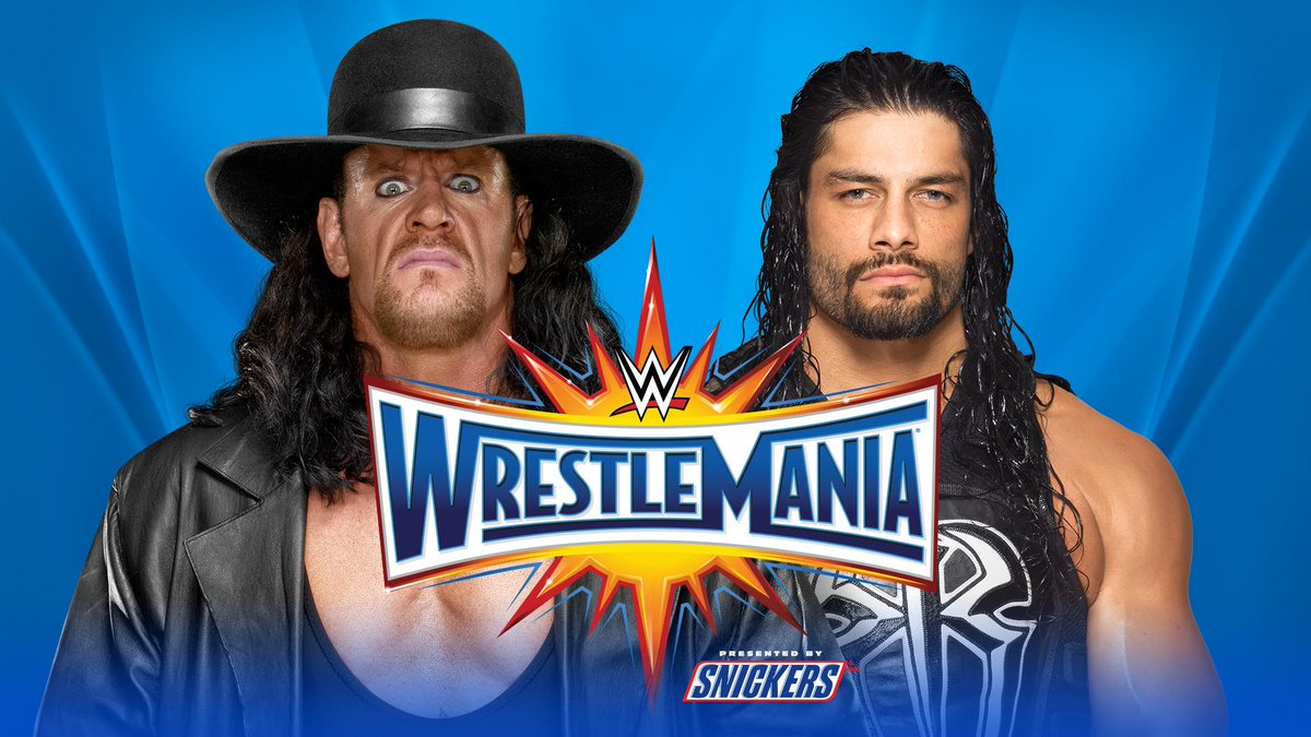 BREAKING: #TheBigDog @WWERomanReigns and The #Undertaker are set to do battle at #WrestleMania 33!