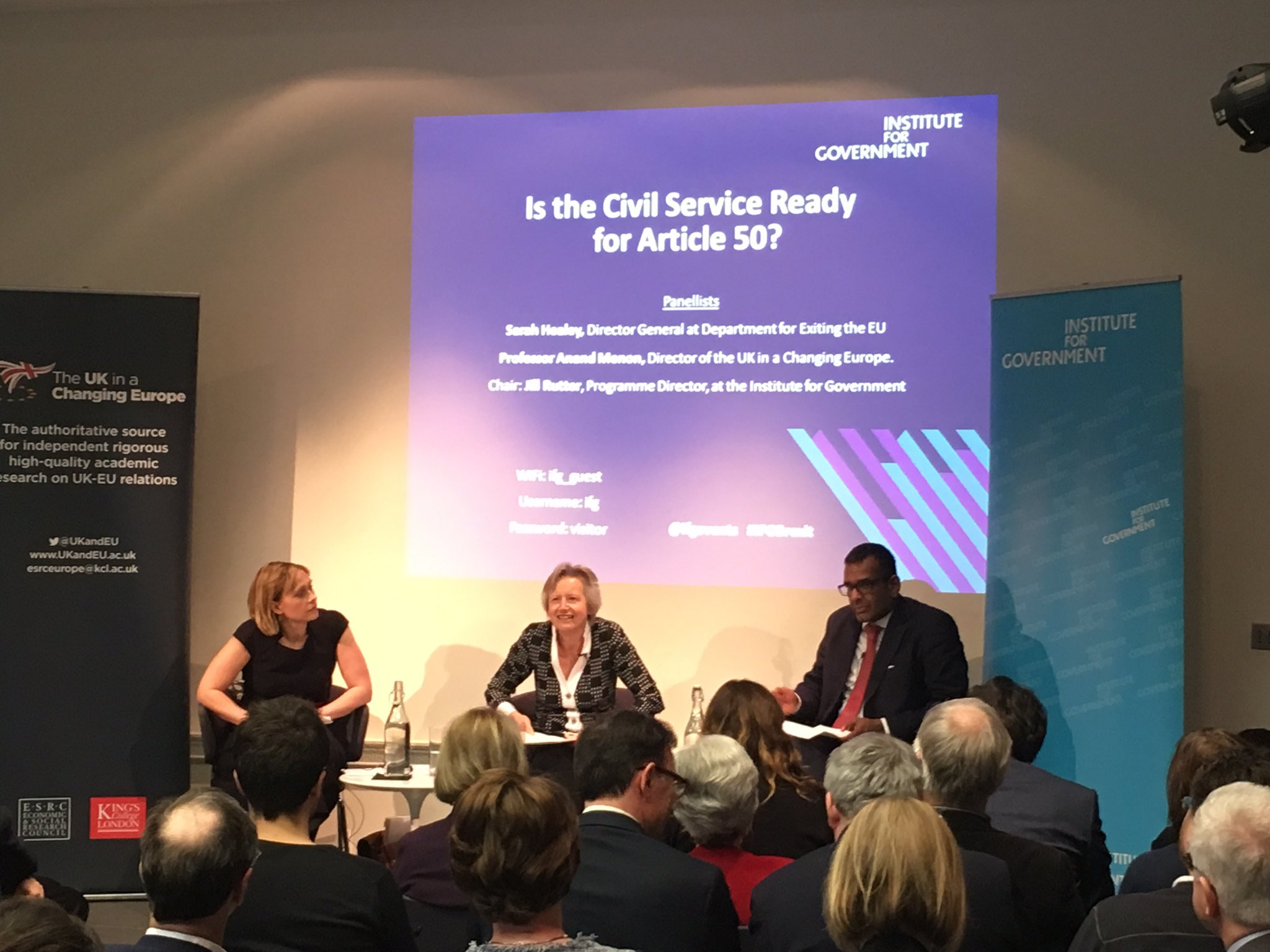 Our event with @ifgevents with @anandMenon1 @jillongovt and Sarah Healey @DexEUgov #ifgbrexit https://t.co/C1e8n7joLv