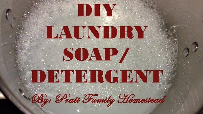 DIY Homemade Liquid Laundry Soap/Detergent