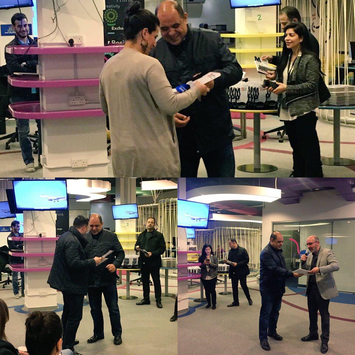 تكريم الجهات الداعمة لأول جناح أردني في مؤتمر الاتصالات العالمي في برشلونة #WeCanJo #MWC17 #JO_MWC17 https://t.co/7wGYiXp34j