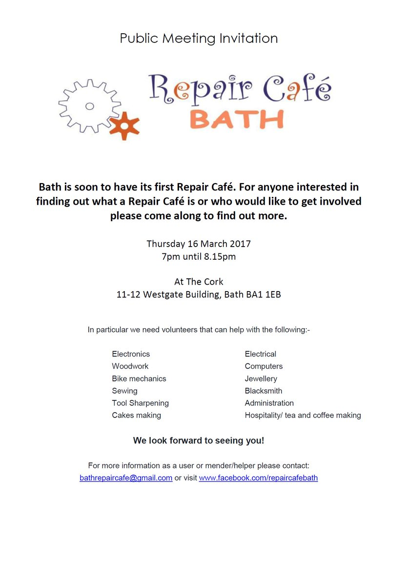 "b&nes council on twitter: ""bath repair café public meeting"