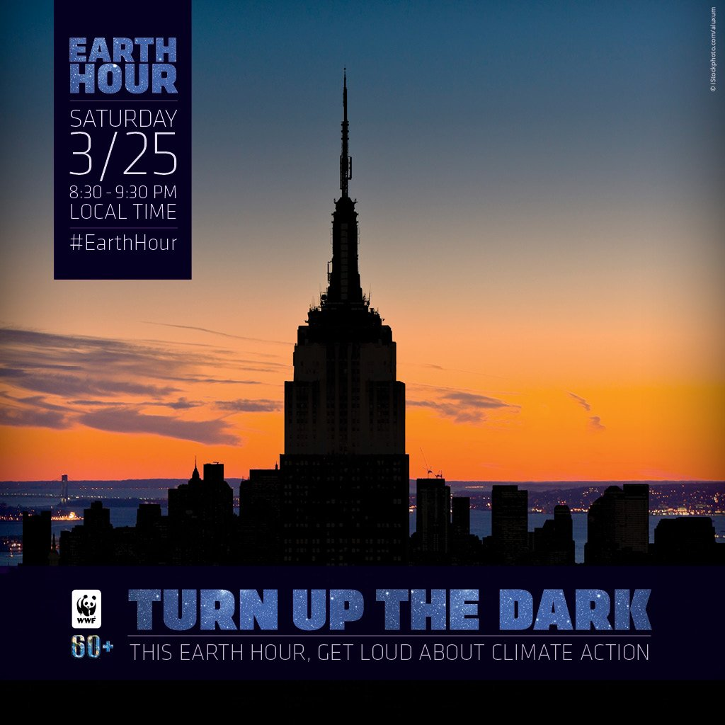 The @EmpireStateBldg is on board for #EarthHour 2017! Are you? https://t.co/CLCTF0I80T https://t.co/9uOwhsl1Fu