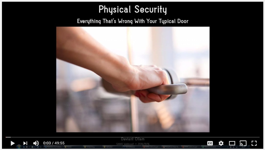 Something is. physical security penetration testing pity, that