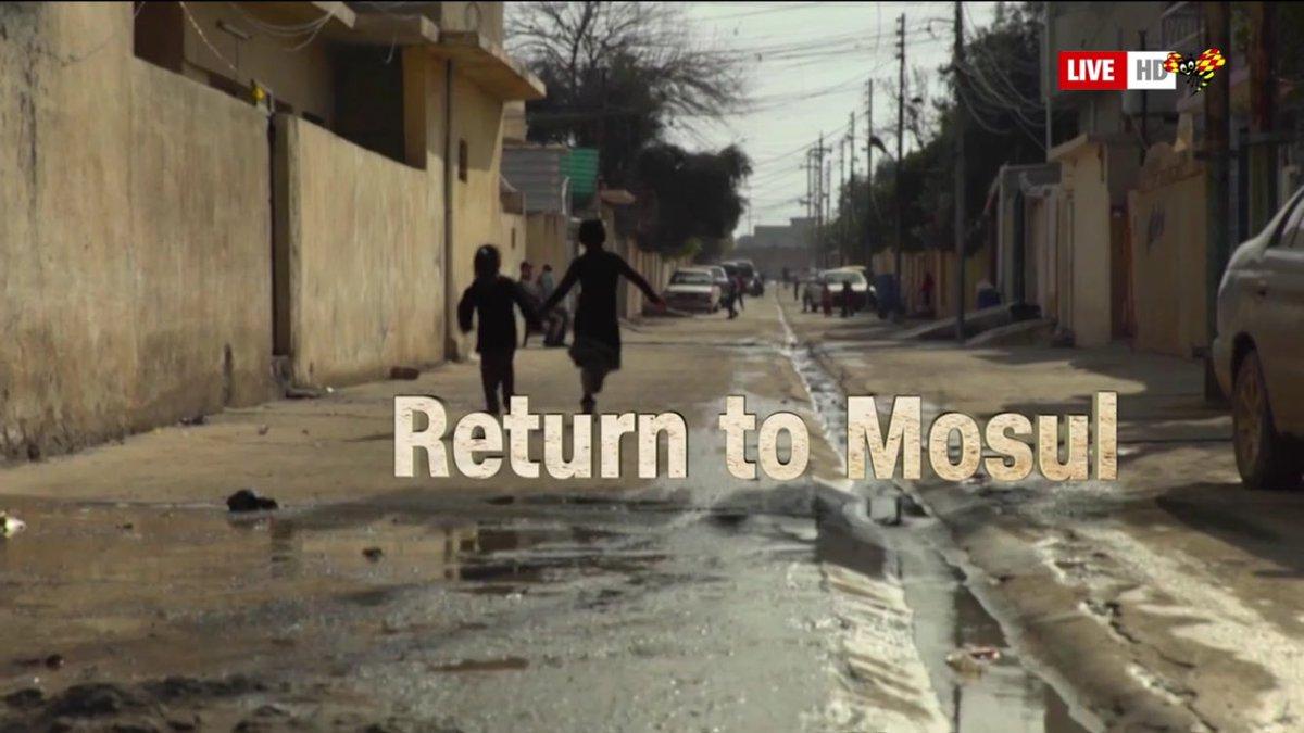 """Nu sänder @ExpressenTV """"Återkomsten till Mosul"""", en textad @CNN-dokumentär, på http://www.expressen.se/tv/nyheter/live/live-tv-senaste-nyheterna-fran-expressen-tv-1/… Stark historia."""