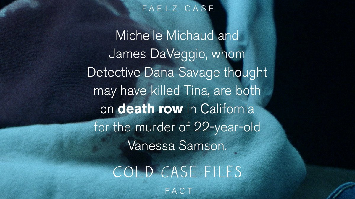 Michelle michaud and james daveggio were suspects in tina faelz's death. #coldcasefiles ...