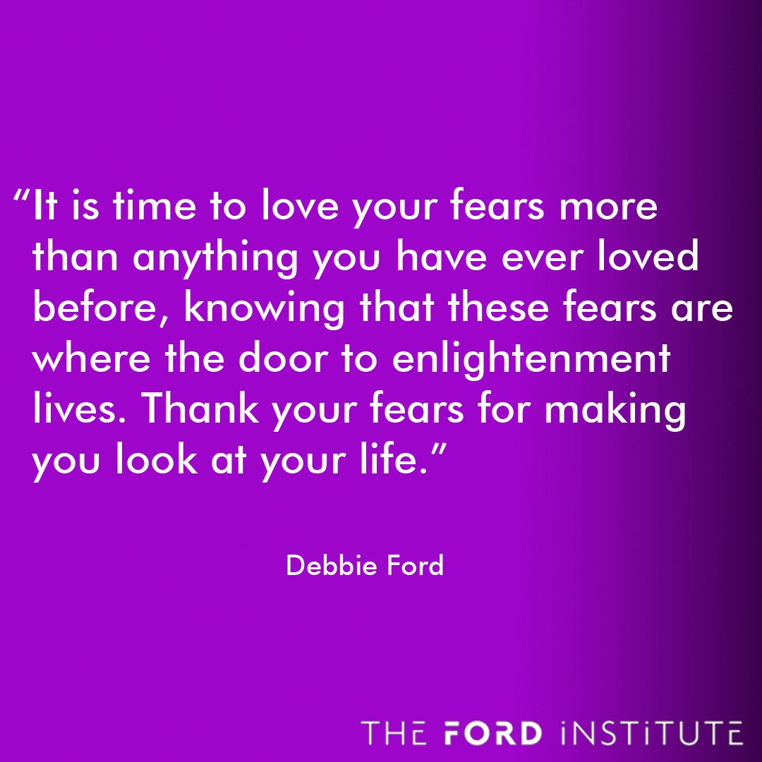 """""""It is time to love your fears more than anything you have ever loved before..."""" Debbie Ford https://t.co/1BwvP9plNP"""