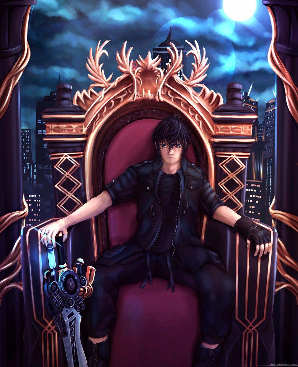 Картинки аниме парень на троне