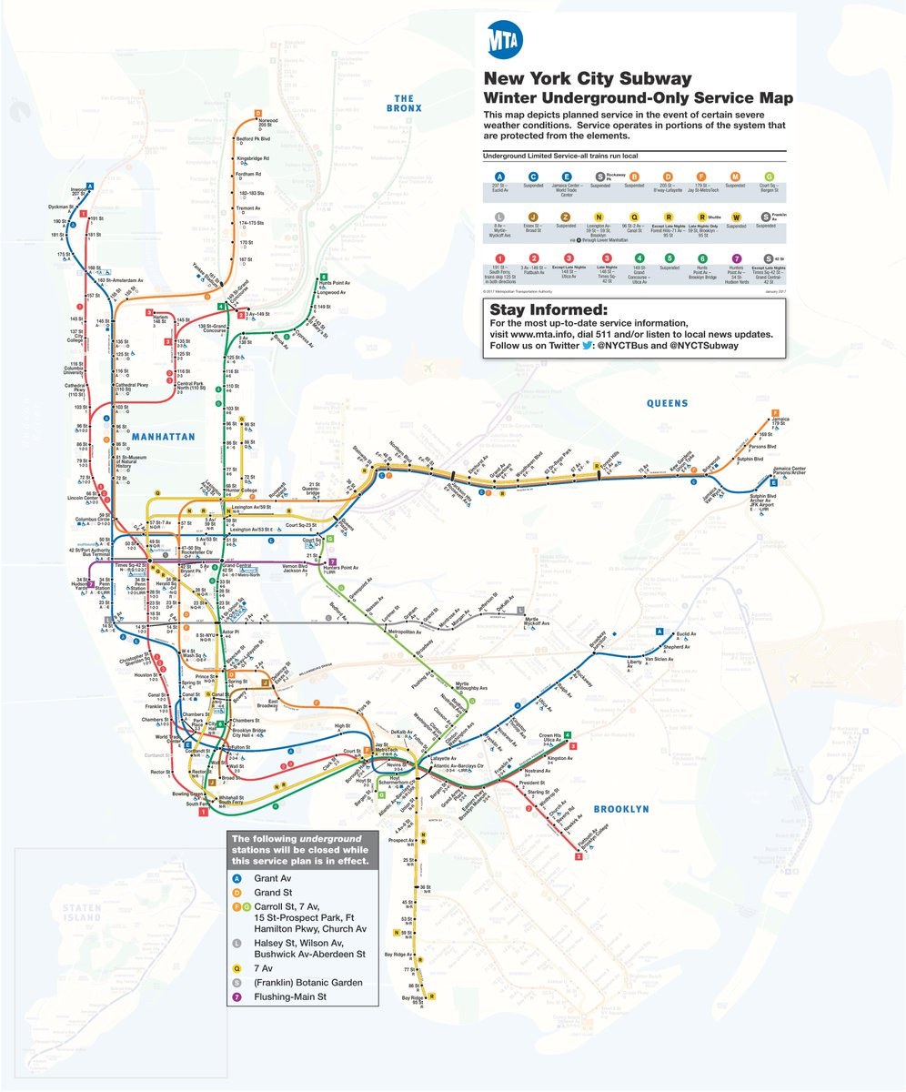 Second Ave Subway Map.Second Ave Sagas On Twitter Here S The Updated Winter Underground