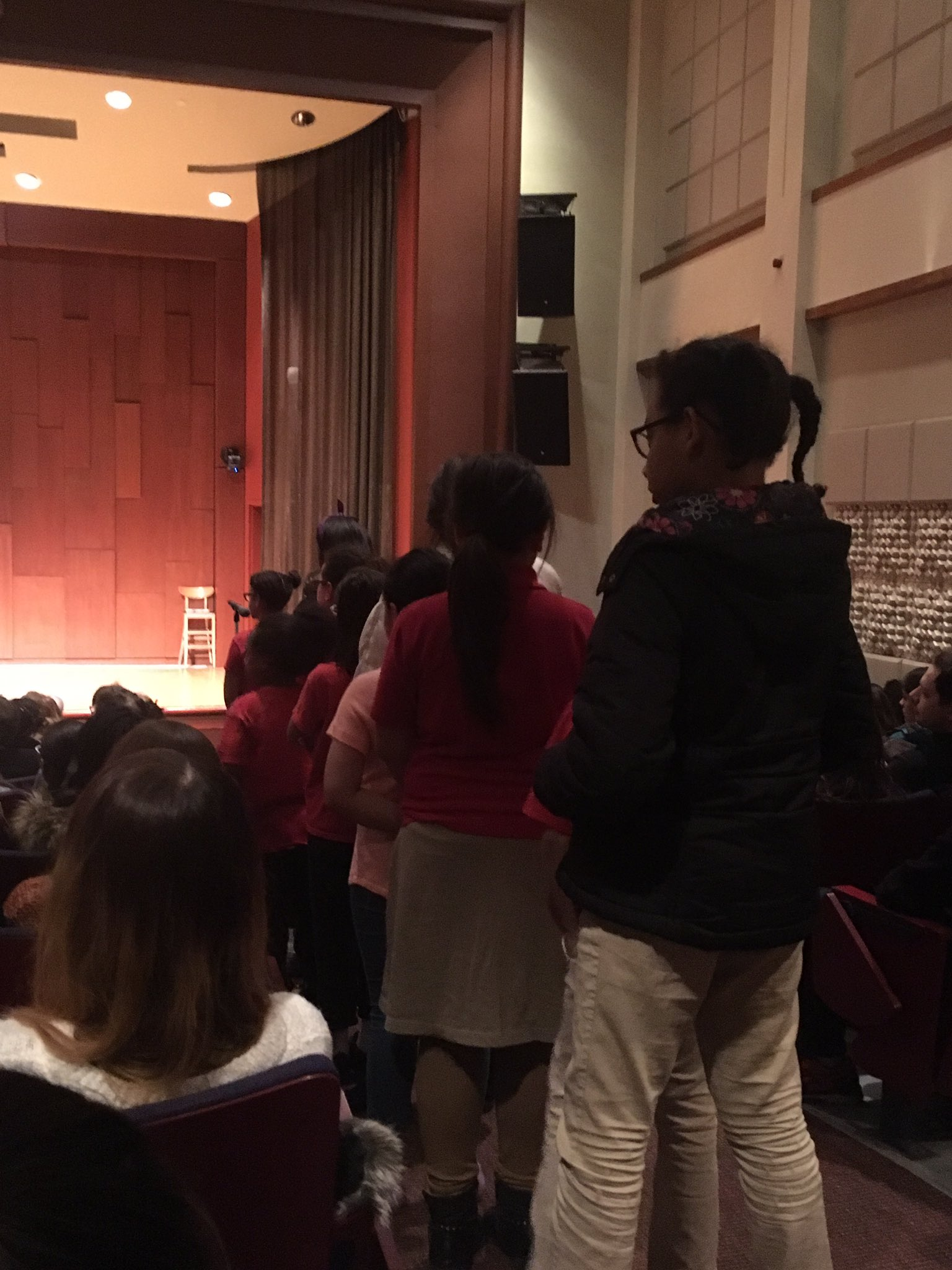 The Q&A line for #MargotLeeShetterlyAtBrown is all little girls of color asking questions. .@margotshetterly is beaming and answering kindly https://t.co/3g93UKnYFr