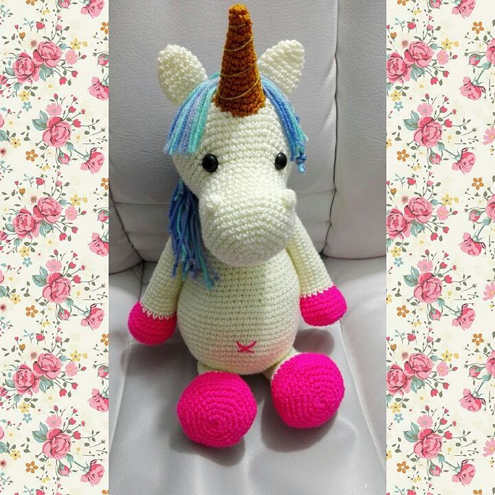 Lavender Unicorn Crochet Pattern ONLY not a finished product ... | 720x720