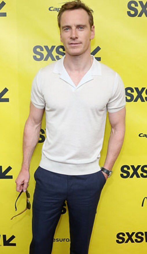 This is how you want to wear a polo shirt this summer. Something knitted. Look for a silk/cotton mix. #fassbender https://t.co/u60W7Vsb15