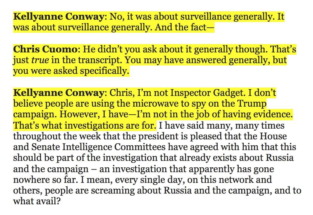 Overlooked in all of this: KellyAnne Conway seems to think Inspector Gadget was an inspector of gadgets, not a gadget-filled inspector