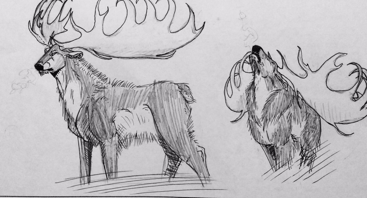 Irish Elk. Sometimes I am in awe of the artistic ability of my students. #2017MMM #sciart https://t.co/exTgUYmBX5