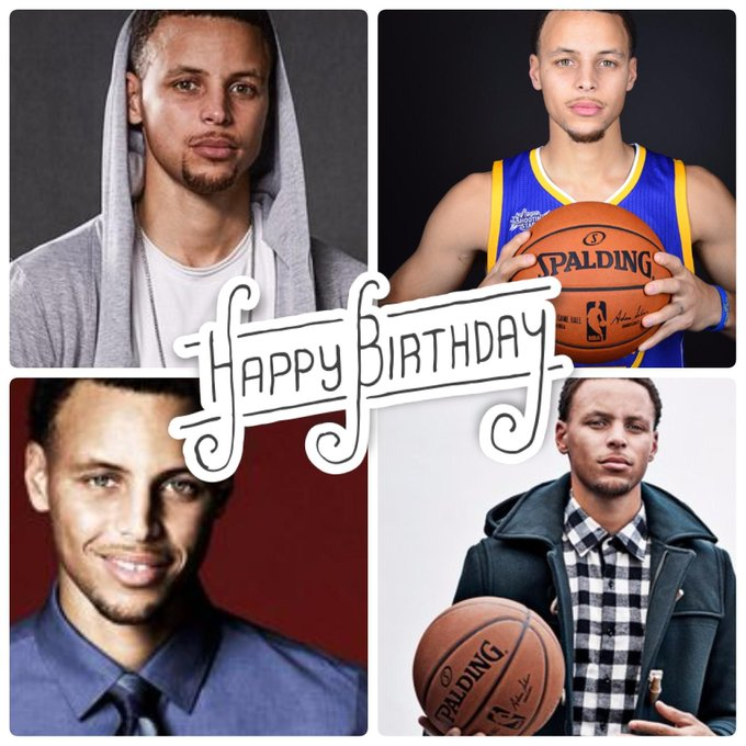 Happy Birthday to the amazingly talented and strong, Stephen Curry.