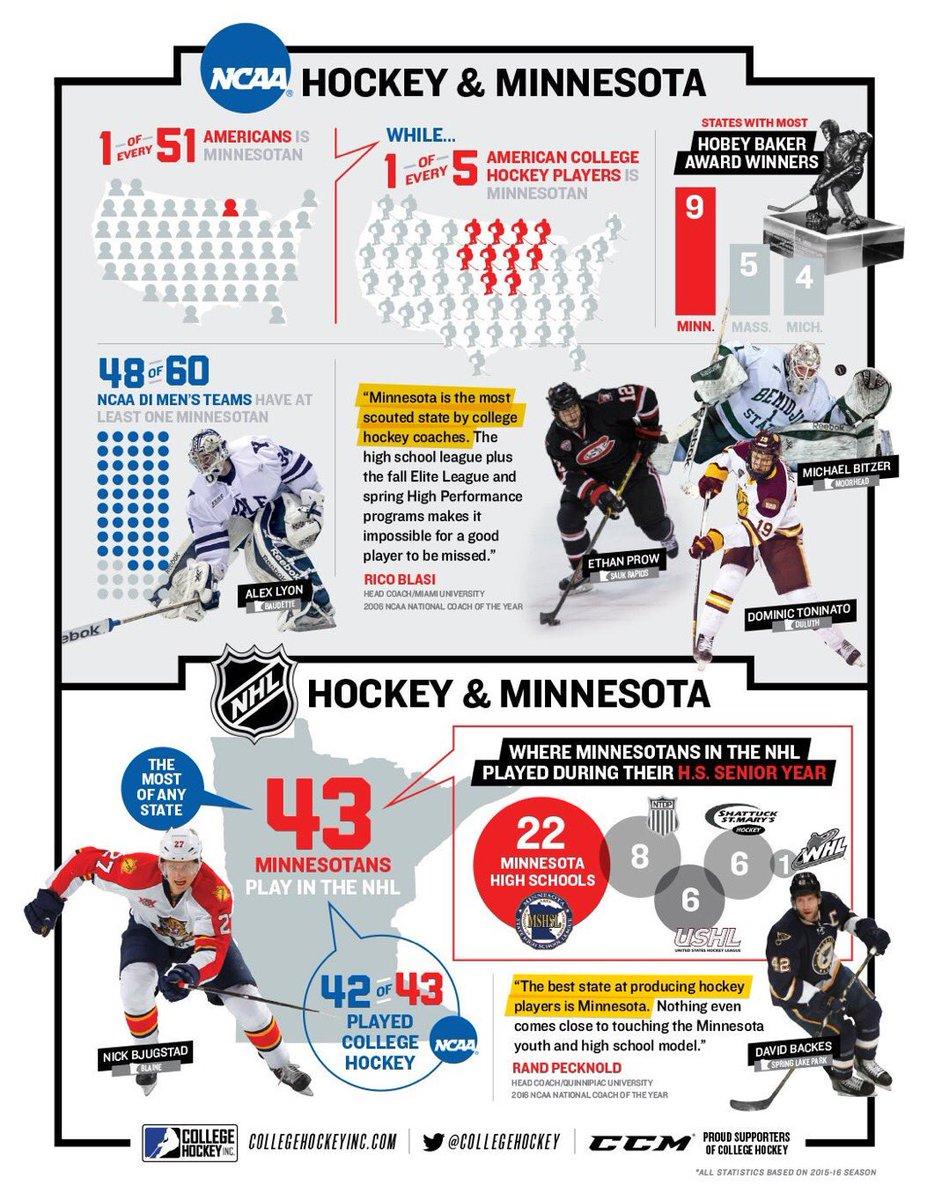 NCAA: Check Out This Infographic Highlighting NCAA Hockey & Minnesota