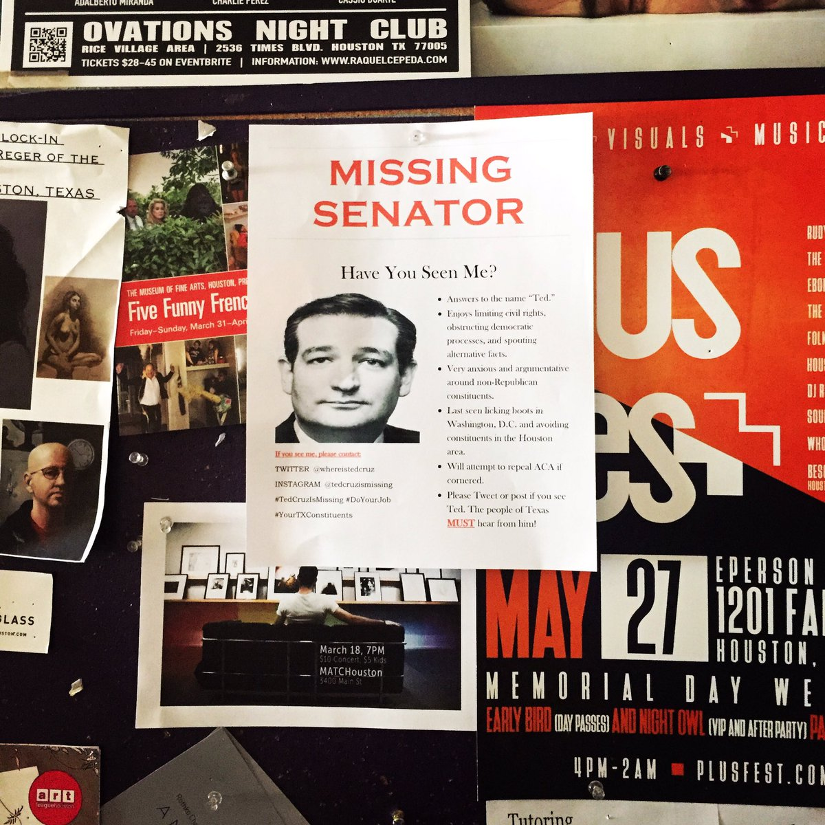 ted cruz is missing on twitter flyer spotted antidotecoffee but