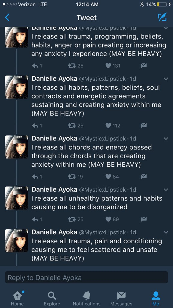 Danielle Ayoka On Twitter I Think The Mentions Break The Ritual