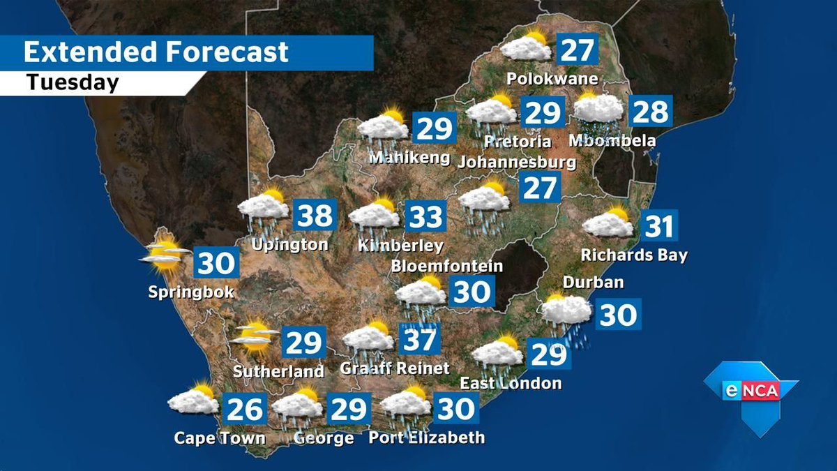 Weather Map South Africa Today.Enca On Twitter Missed That Weather Forecast For Today