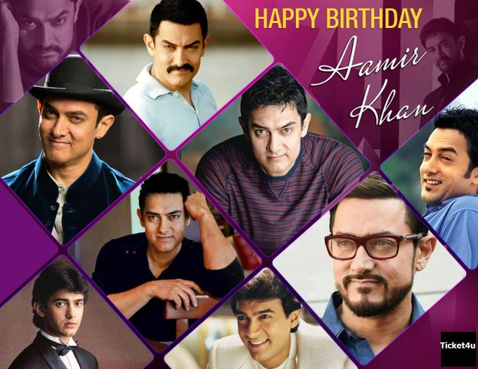 Ticket4u Wishing the Mr. Perfectionist of Bollywood aka Aamir Khan Happy Birthday!