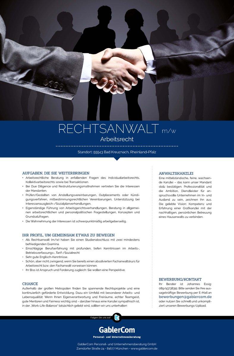 Gablercom On Twitter Job Karriere Rechtsanwalt Mw