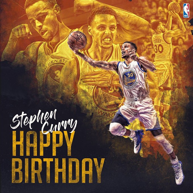 Happy birthday Stephen Curry