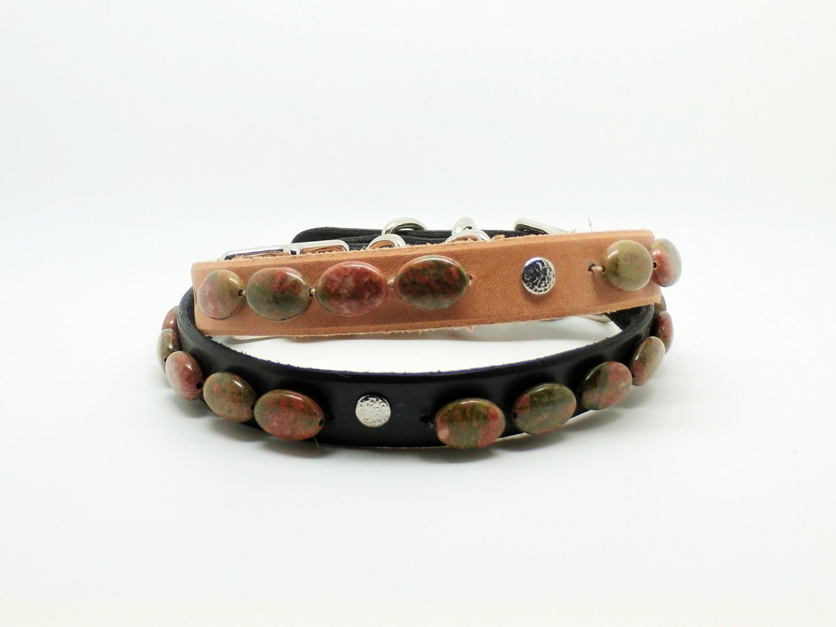 #Handmade #Unakite &amp; Leather #DogCollars Made in USA  http:// ow.ly/SEzy3037xlC  &nbsp;   #Gemstones #DogLovers #PetLuxury #Pets<br>http://pic.twitter.com/oX7WGFvRG2
