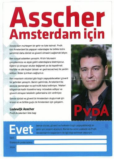 PvdA affiches in Turks