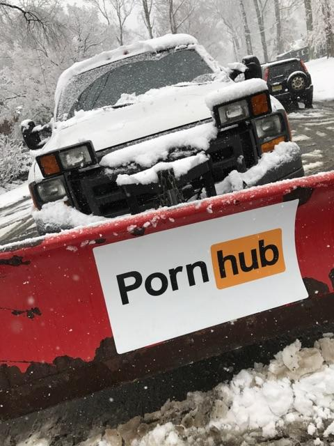 Pornhub plowed city streets because why not