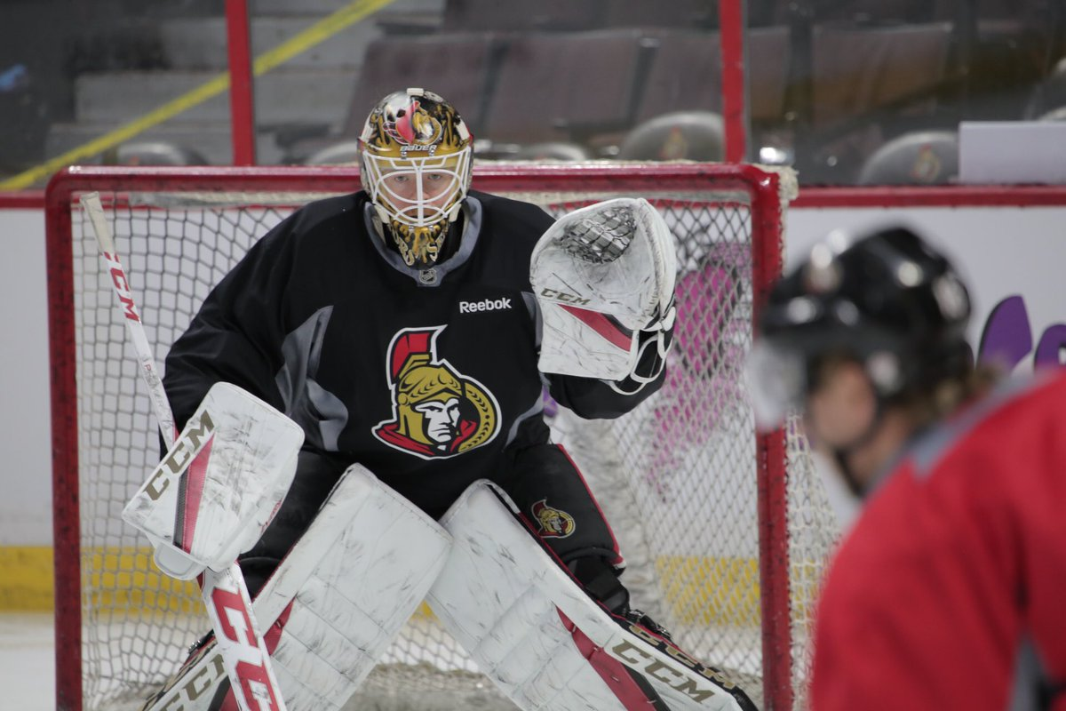 He also confirmed that Mike Condon gets the start in goal tonight. htt...