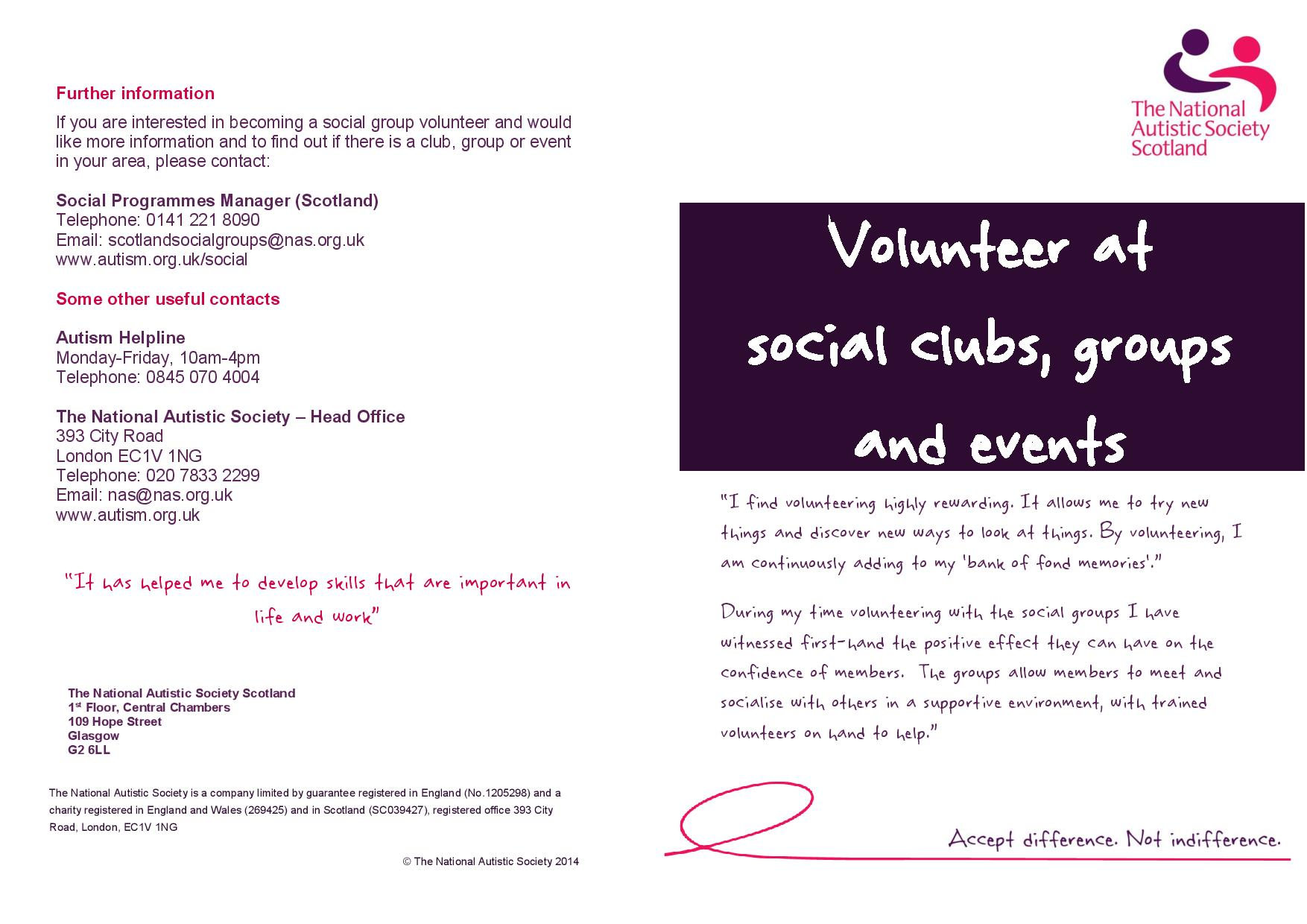 "Volunteer Dundee on Twitter ""National Autistic Society Scotland"