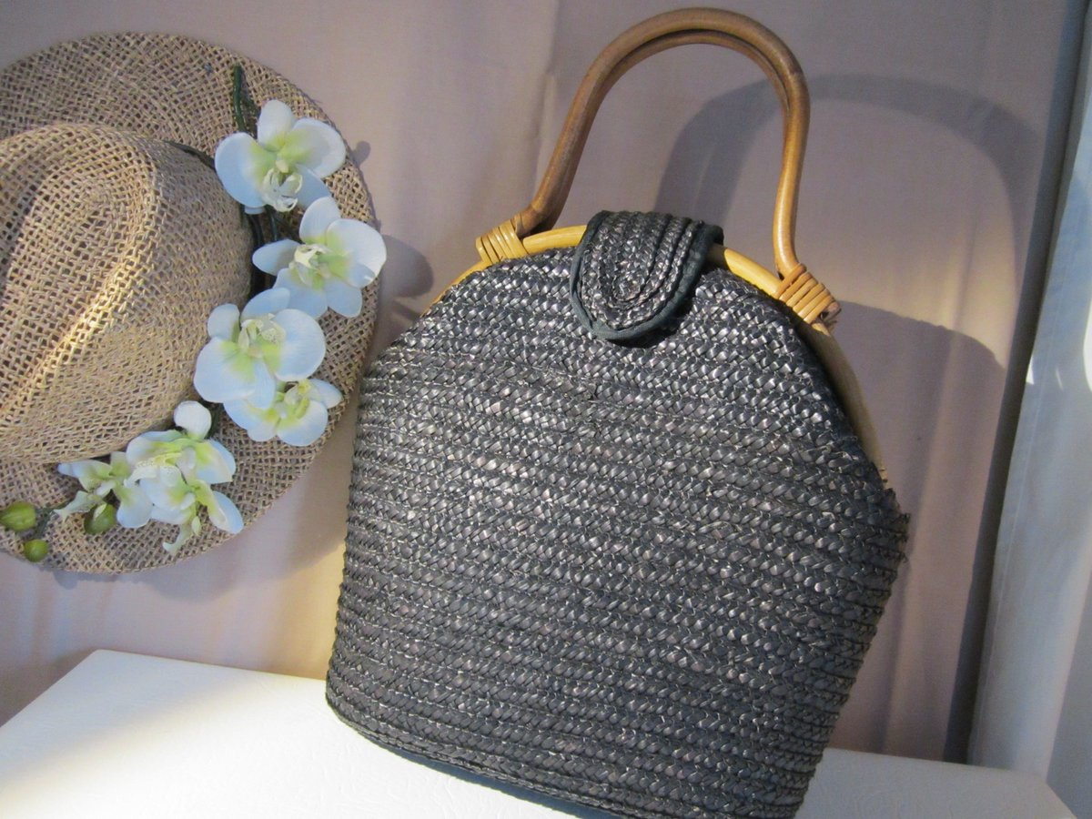 Straw Bamboo Handles Quirky Handbags Ebay Freepost S T Co Uafkbvtghk Gz566h4c9c