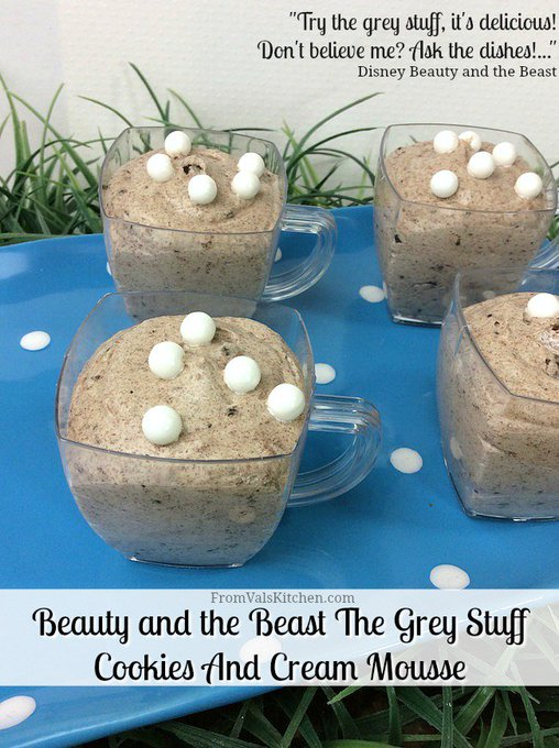 Beauty and the Beast The Grey Stuff Cookies And Cream Mousse #Recipe