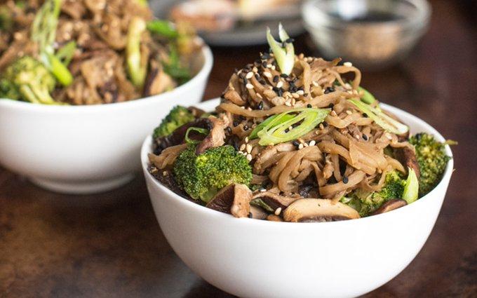 Paleo Eggplant Noodle Chow Mein [Vegan, Gluten-Free]