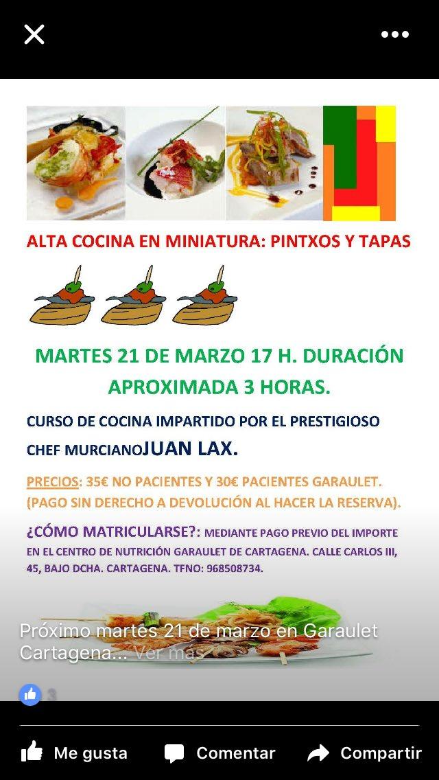 Cursos De Cocina En Cartagena | Centros Garaulet On Twitter Martes 21 Marzo En El