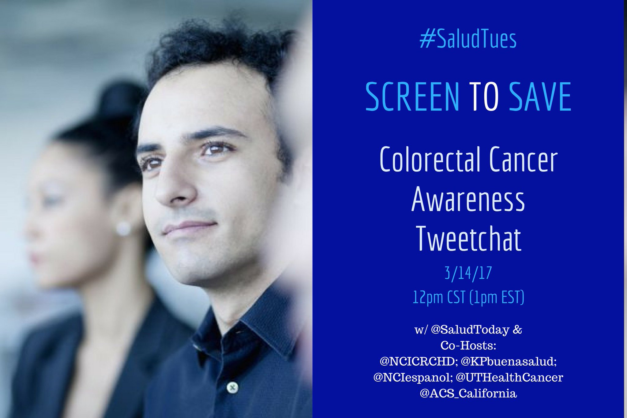 Thumbnail for Screen to Save Colorectal Cancer Awareness Tweetchat