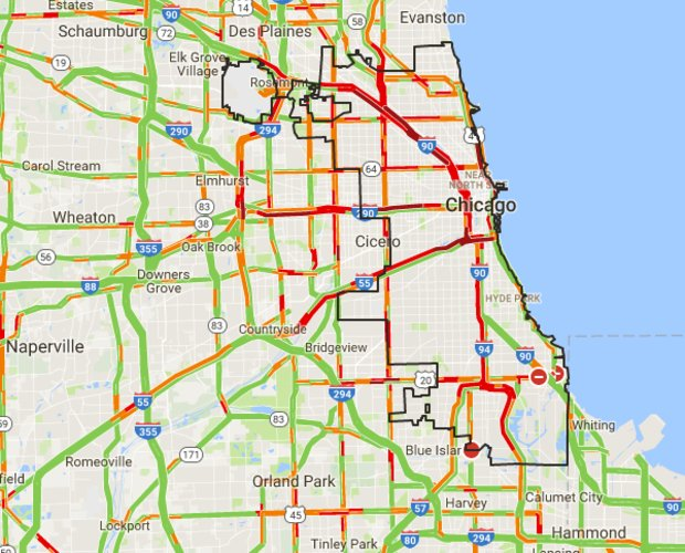 Block Club Chicago On Twitter Snowstorm Traffic Map Here S What S