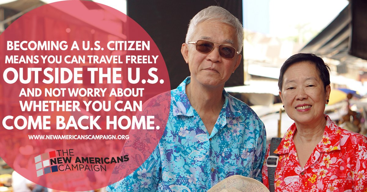 Naturalized citizens are able to travel freely. Attend a #NewAmericans workshop to learn more: https://t.co/zROLzjZWTQ https://t.co/SfD1dQHWyN