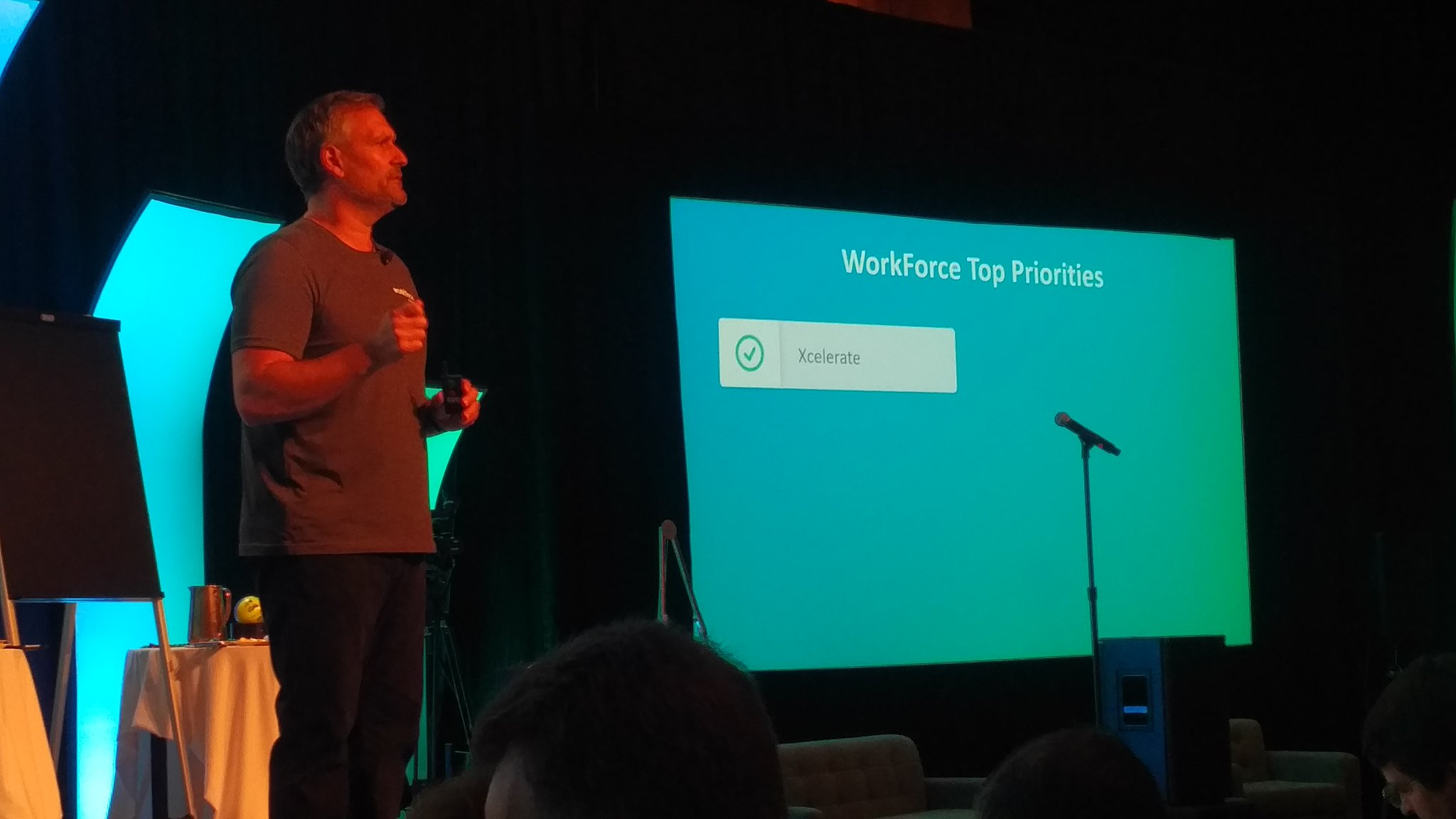 .@mikemorini77 up to @WorkForceSW top priories - starts w Xcelerate - faster implementations #wfsvision17 https://t.co/WwcYDg4K88