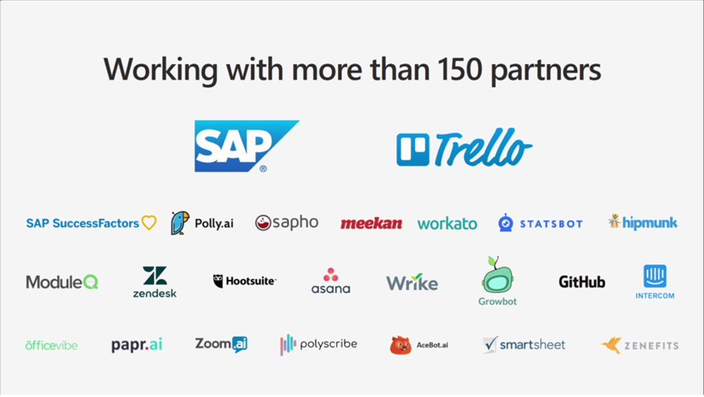 MyPOV it's impressive that #MicrosoftTeams has 150+ big name partners at launch. #socbiz #futureofwork @Office365 https://t.co/j0IXV17Clx