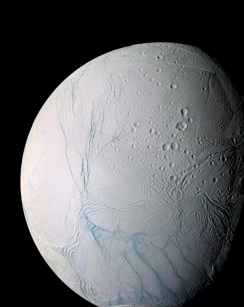 South pole on Saturn's icy moon Enceladus warmer than expected, suggesting liquid water ocean closer to the surface: https://t.co/mrdnat7Jta