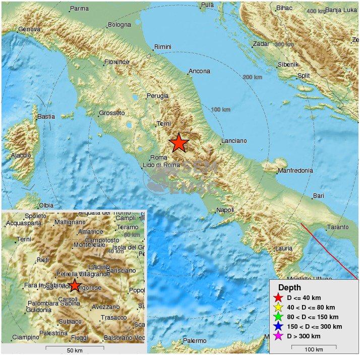 Terremoto Oggi in Abruzzo Sisma Epicentro L'Aquila 14 marzo 2017