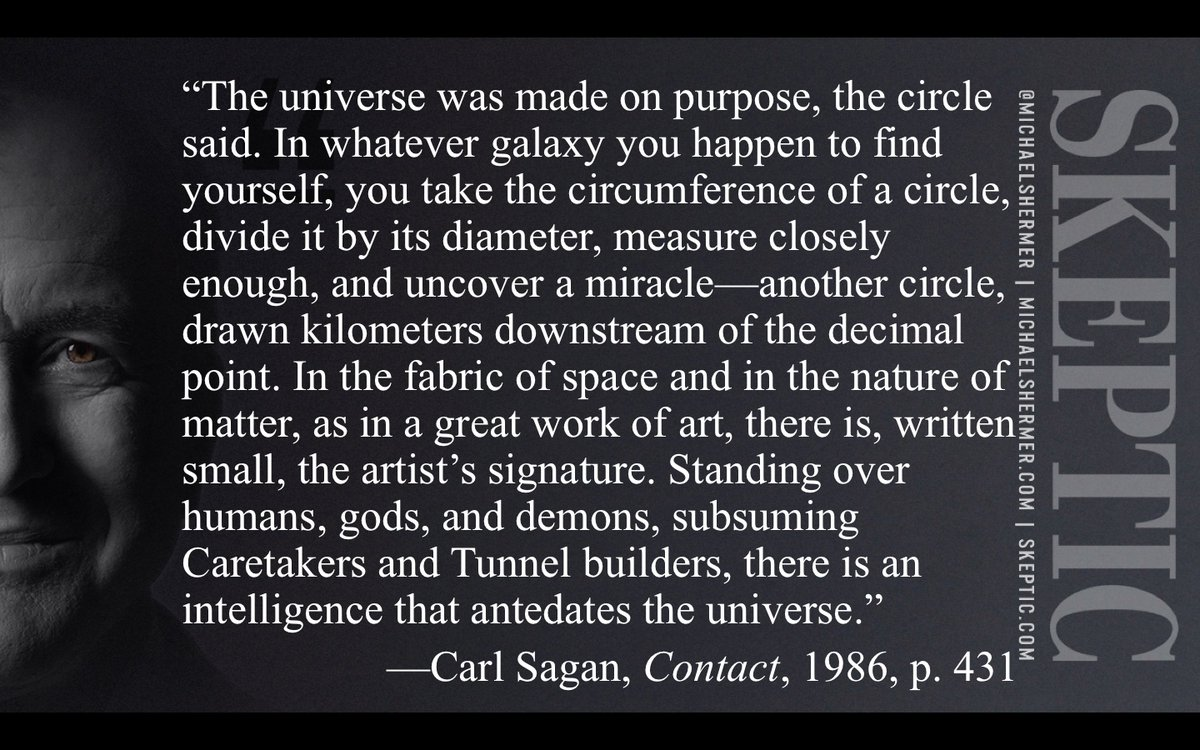 """Michael Shermer on Twitter: """"Since today is pi day (3.14159...) & I'm  quoting from Carl Sagan's Contact, this is the book's ending, implying an  advanced ETI creator?… https://t.co/w1oSOjpOQG"""""""