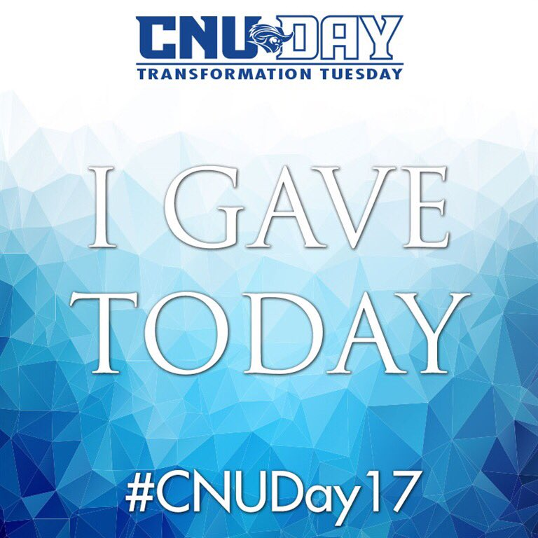 Donated on behalf of the department that helped me find my passion �� #CommNerd #CNUDay2017 https://t.co/Awecd8KjGR