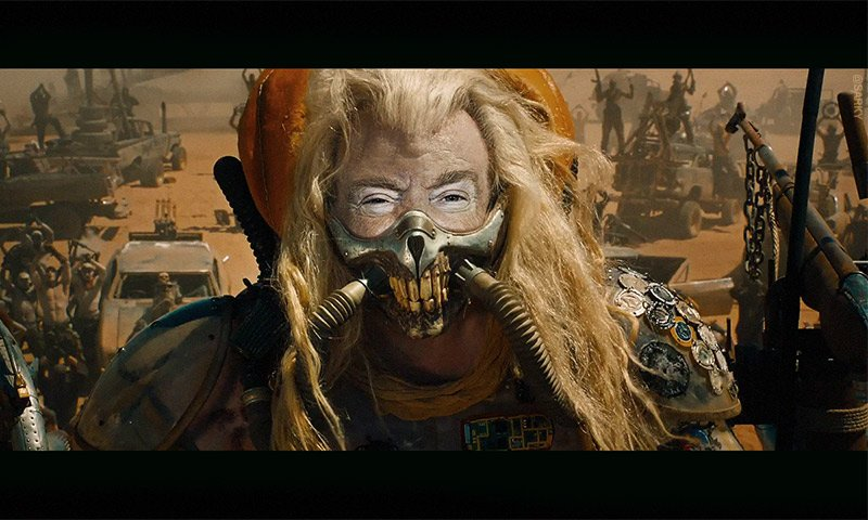 &quot;I&#39;m just here for the gasoline.&quot; #trump #ExxonKnew #RexTillerson #madmax<br>http://pic.twitter.com/51w6MsFnkM